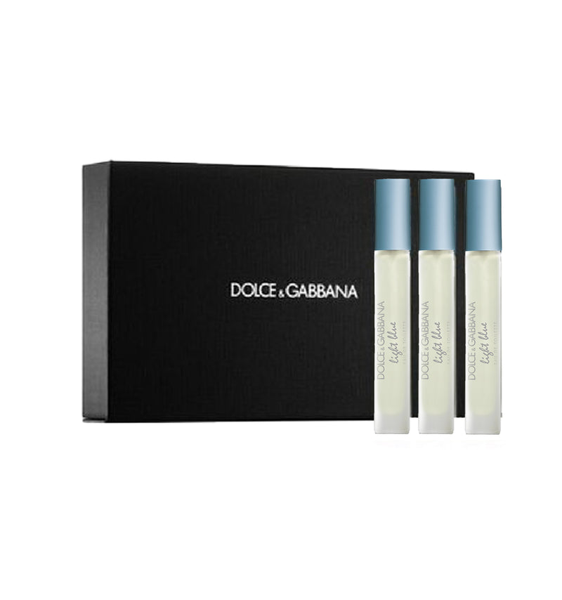 DOLCE&GABBANA LIGHT BLUE EAU DE TOILETTE GIFT SET.