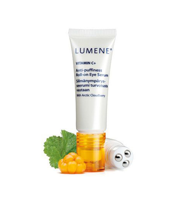 Lumene Vitamin C+ Anti-Puffiness Roll-On Eye Serum.