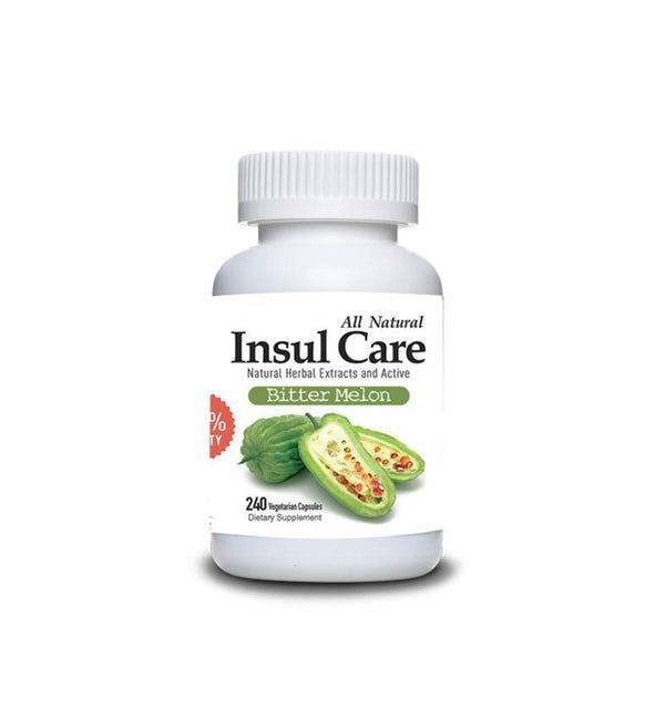 Insul Care Bitter Melon All Natural Dietary Supplement 120 CAPSULES.