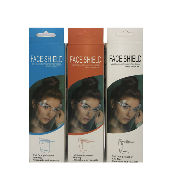 Face Shield with Glasses Frame(Compact package).