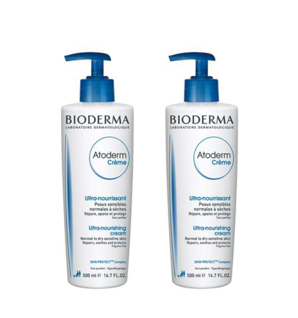 BIODERMA Atoderm Ultra-Nourishing Cream Pack 2x500ml.