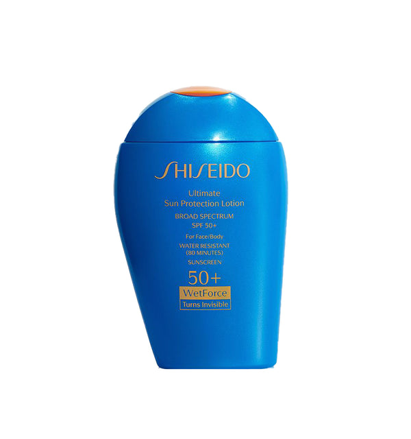 Shiseido Ultimate Sun Protector Lotion SPF 50+ Sunscreen.