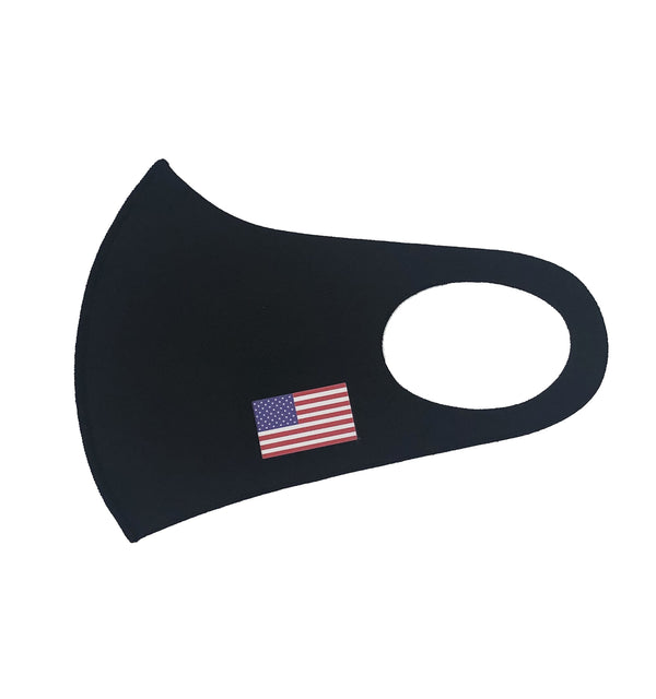 Solid Neoprene Face Mask Black.