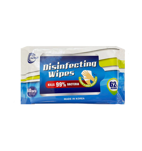 Disinfecting Wipes 62% alcohol