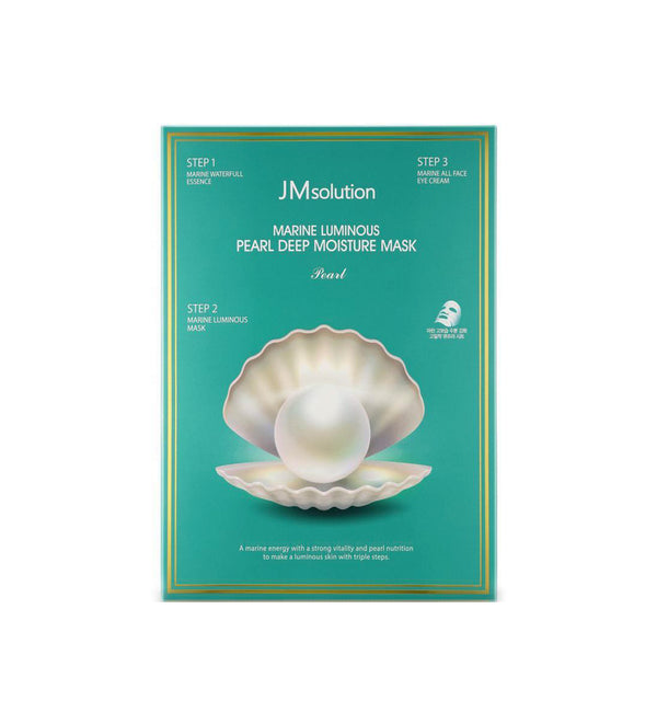 JM SOLUTION 3 Step Marine Luminous Pearl Deep Moisture Mask.