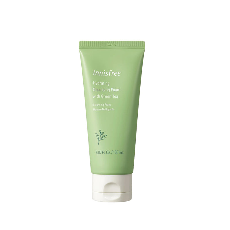 Innisfree Hydrating cleansing foam with green tea.