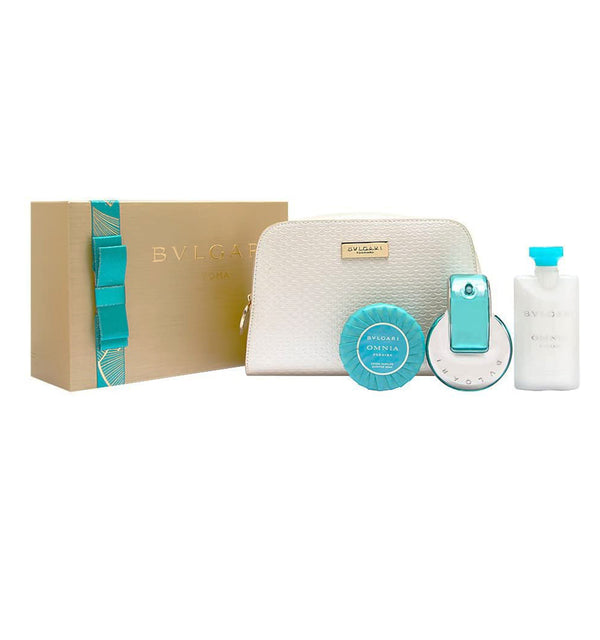 Bvlgari Omnia Paraiba for Women 4 Piece Set.