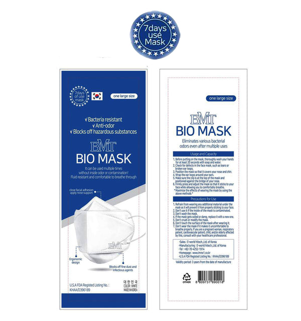 BMT BIO 3D Mask lite (7 Days useable).