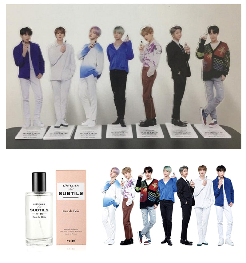 VT X BTS L'ATELIER Perfume 50ml BOIS - RM (15 BTS Photo Cards and Pop up Postcard + A Random Standee)