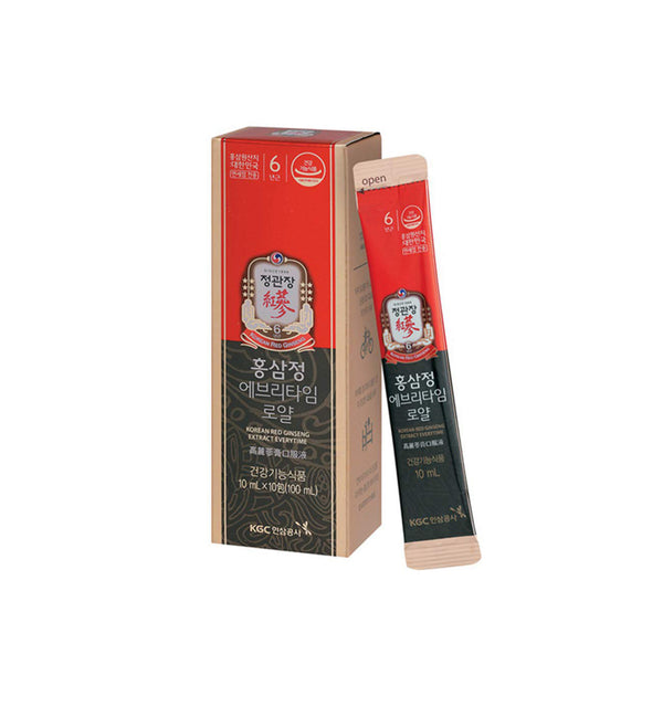 Korea Ginseng Corp Korean Red Ginseng Extract Everytime Royal (30 Stick Packs).