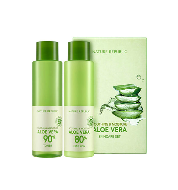 NATURE REPUBLIC SOOTHING&MOISTURE ALOE VERA SKIN CARE SET