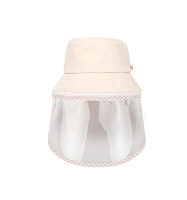 White Sand Lucete Face Shield Hat Beige.