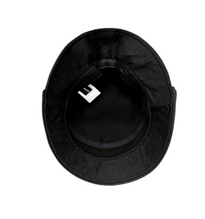 White Sand Lucete Face Shield Hat Black.