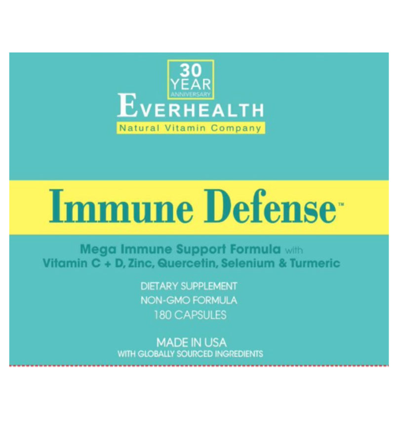 Everhealth Natural Vitamins Immune Defense 180 capsules.