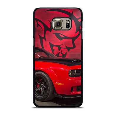coque custodia cover fundas hoesjes j3 J5 J6 s20 s10 s9 s8 s7 s6 s5 plus edge D21995 DODGE CAR DEMON LOGO RED Samsung Galaxy S6 Edge Plus Case