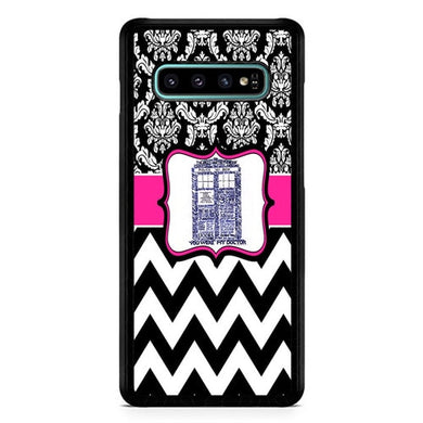 Word Art Tardis Doctor Who X0182 Casing coque Samsung Galaxy S10  Premium