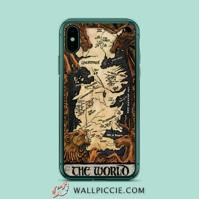 coque iphone 8 game of thrones map