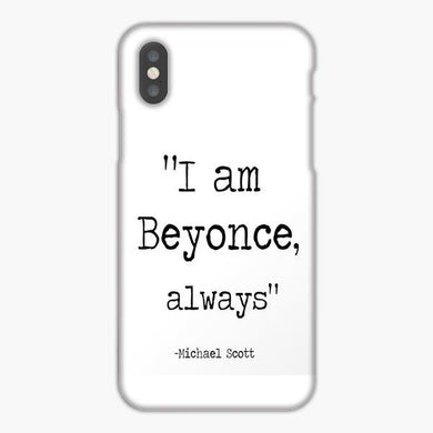Coque iphone X XS Max XR The Wise Words Of Michael Scott White Black