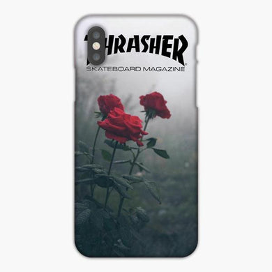 Coque iphone X XS Max XR Thrasher Magazine Red Roses