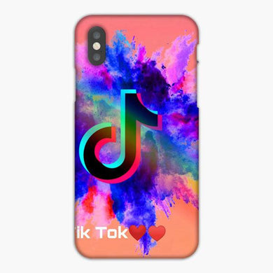 Coque iphone X XS Max XR Tik Tok Gradation Color Love Love