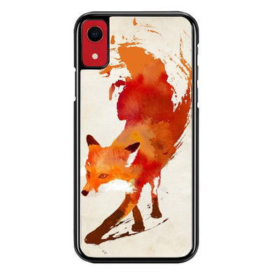 Watercolor art orange red fox animal F0246 iPhone XR coque