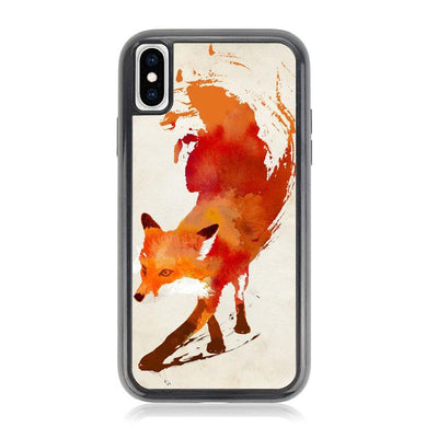 Watercolor art orange red fox animal F0246 iPhone XS Max coque