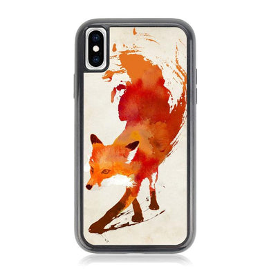 Watercolor art orange red fox animal F0246 iPhone X, XS coque