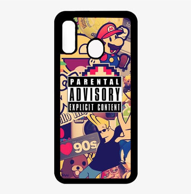 coque custodia cover fundas hoesjes j3 J5 J6 s20 s10 s9 s8 s7 s6 s5 plus edge B31652 Parental Advisory FF0186 Samsung Galaxy A20 Case
