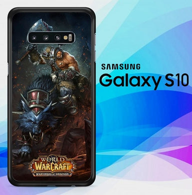 World Of Warcraft Warlords Of Draenor O6555 coque Samsung Galaxy S10
