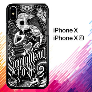Jack And Sally Muertitos The Nightmare Before Christmas F0874 coque iPhone X, XS
