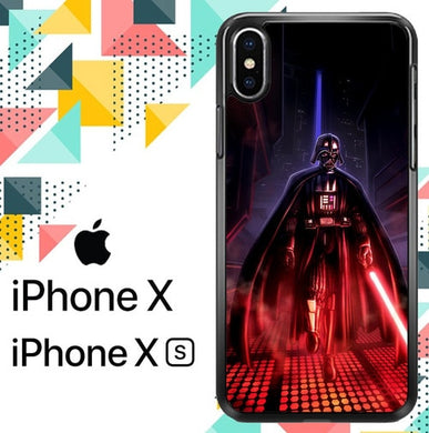Star Wars Animated Darth Vader Z1454 coque iPhone X, XS