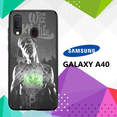 coque case samsung galaxy a40 K3927 Wiz Khalifa Wallpaper 100tE9