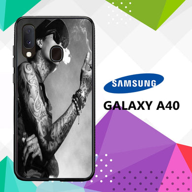 coque case samsung galaxy a40 P1581 Wiz Khalifa Wallpaper 100xH9