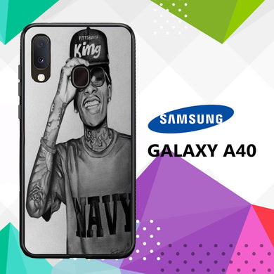 coque case samsung galaxy a40 S4519 Wiz Khalifa Wallpaper 100lN5