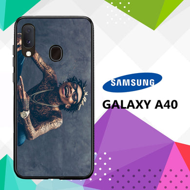 coque case samsung galaxy a40 Y6015 Wiz Khalifa Wallpaper 100lX4