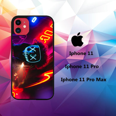coque iphone 11 pro max case P8258 neon wallpaper 50mW2