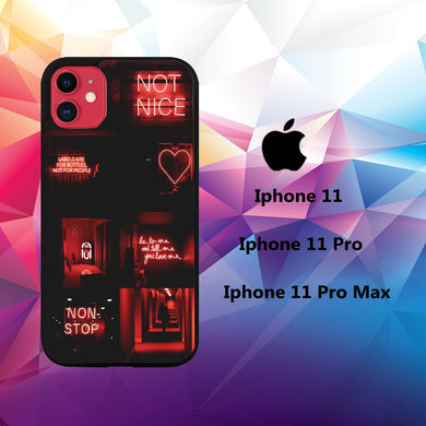 coque iphone 11 pro max case S1066 neon wallpaper 50wD2