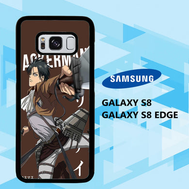 coque samsung galaxy S6 S7 S8 S9 S10 edge case B6218 levi ackerman wallpaper 140eB7