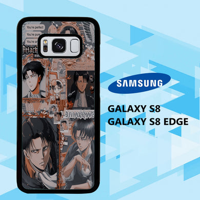 coque samsung galaxy S6 S7 S8 S9 S10 edge case G7566 levi ackerman wallpaper 140dS0
