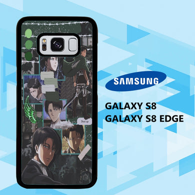 coque samsung galaxy S6 S7 S8 S9 S10 edge case N2271 levi ackerman wallpaper 140jH5