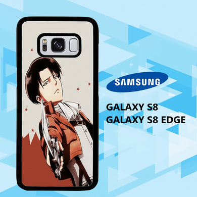 coque samsung galaxy S6 S7 S8 S9 S10 edge case Q5853 levi ackerman wallpaper 140nB1