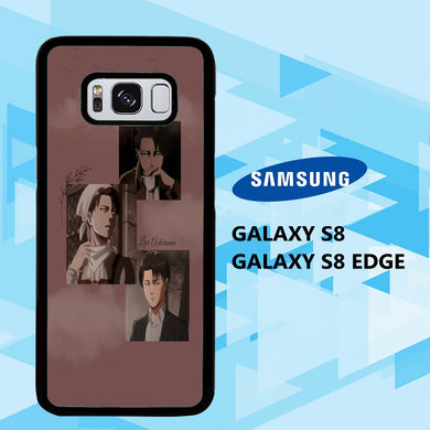 coque samsung galaxy S6 S7 S8 S9 S10 edge case T5402 levi ackerman wallpaper 140cT5
