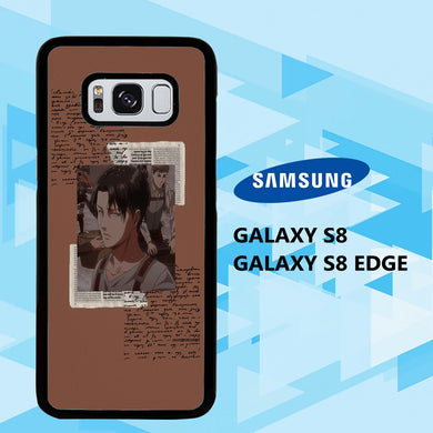 coque samsung galaxy S6 S7 S8 S9 S10 edge case U7422 levi ackerman wallpaper 140mM8