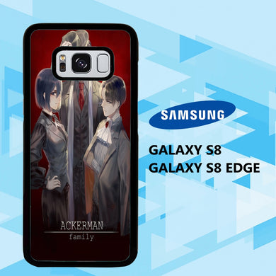 coque samsung galaxy S6 S7 S8 S9 S10 edge case W1766 levi ackerman wallpaper 140cN2