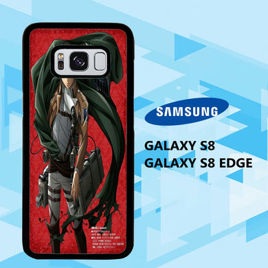 coque samsung galaxy S6 S7 S8 S9 S10 edge case Y9668 levi ackerman wallpaper 140yK2