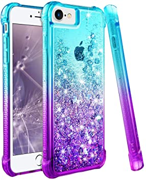 coque iphone 8 purple glitter