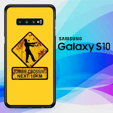 Zombie Crossing Sign L2803 coque Samsung Galaxy S10