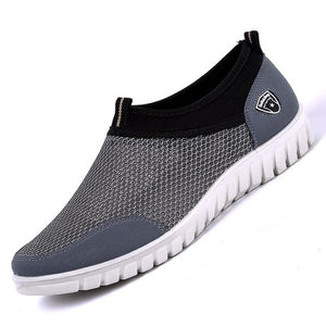 Summer mens Mesh Shoe Sneakers Breathable Slip-On Male Shoes Loafers 38-48