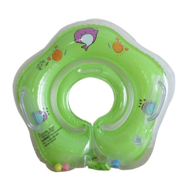 Shipped from USA Baby Infant Safety Neck Inflatable Float Circle For Bathing