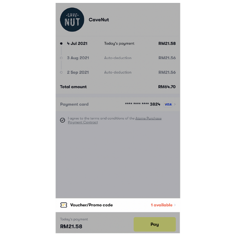 How to pay with atome